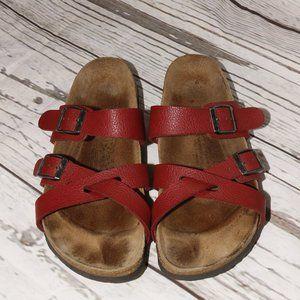 Birkenstock Nepal Buffalo Red Birkies Sandals